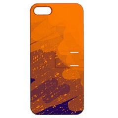 Orange and blue artistic pattern Apple iPhone 5 Hardshell Case with Stand
