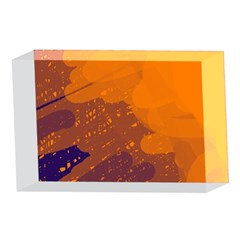 Orange and blue artistic pattern 4 x 6  Acrylic Photo Blocks