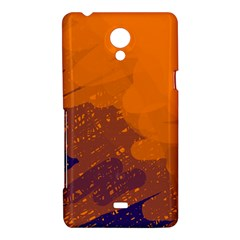 Orange and blue artistic pattern Sony Xperia T