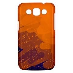 Orange and blue artistic pattern Samsung Galaxy Win I8550 Hardshell Case