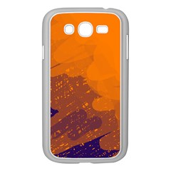 Orange and blue artistic pattern Samsung Galaxy Grand DUOS I9082 Case (White)