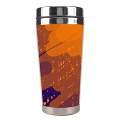 Orange and blue artistic pattern Stainless Steel Travel Tumblers