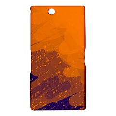 Orange and blue artistic pattern Sony Xperia Z Ultra