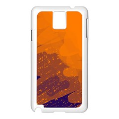Orange and blue artistic pattern Samsung Galaxy Note 3 N9005 Case (White)