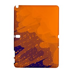 Orange and blue artistic pattern Samsung Galaxy Note 10.1 (P600) Hardshell Case