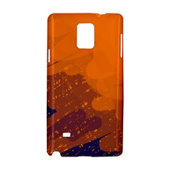 Orange and blue artistic pattern Samsung Galaxy Note 4 Hardshell Case