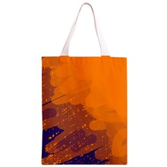 Orange and blue artistic pattern Classic Light Tote Bag