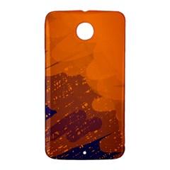 Orange and blue artistic pattern Nexus 6 Case (White)