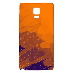 Orange and blue artistic pattern Galaxy Note 4 Back Case