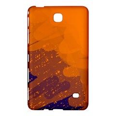 Orange and blue artistic pattern Samsung Galaxy Tab 4 (8 ) Hardshell Case