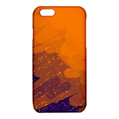 Orange and blue artistic pattern iPhone 6/6S TPU Case