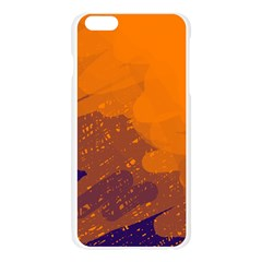 Orange and blue artistic pattern Apple Seamless iPhone 6 Plus/6S Plus Case (Transparent)