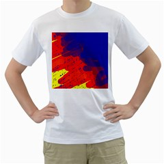 Colorful pattern Men s T-Shirt (White) (Two Sided)