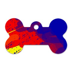 Colorful pattern Dog Tag Bone (One Side)