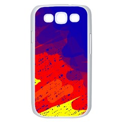 Colorful pattern Samsung Galaxy S III Case (White)