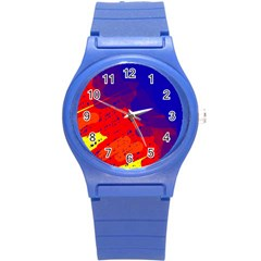 Colorful pattern Round Plastic Sport Watch (S)