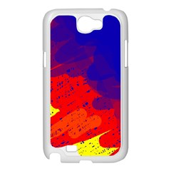 Colorful pattern Samsung Galaxy Note 2 Case (White)