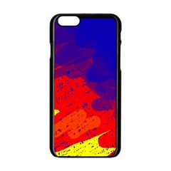 Colorful pattern Apple iPhone 6/6S Black Enamel Case