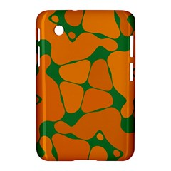 Orange shapes                                                                                       			Samsung Galaxy Tab 2 (7 ) P3100 Hardshell Case