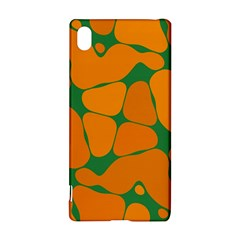 Orange Shapes                                                                                       sony Xperia Z3+ Hardshell Case