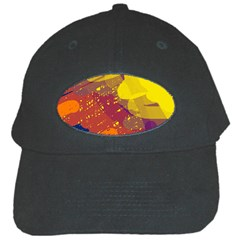 Colorful abstract pattern Black Cap