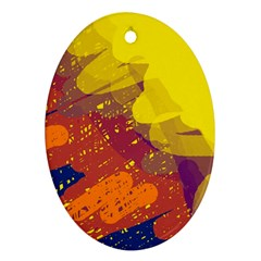 Colorful abstract pattern Ornament (Oval)