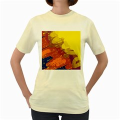 Colorful abstract pattern Women s Yellow T-Shirt