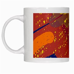 Colorful abstract pattern White Mugs