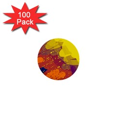 Colorful abstract pattern 1  Mini Buttons (100 pack)
