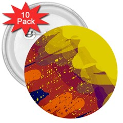 Colorful abstract pattern 3  Buttons (10 pack)