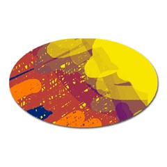 Colorful abstract pattern Oval Magnet