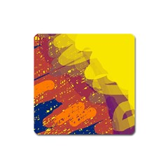 Colorful abstract pattern Square Magnet