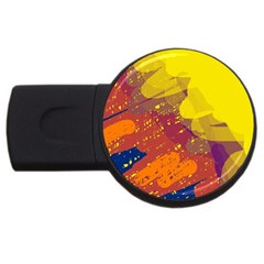 Colorful abstract pattern USB Flash Drive Round (1 GB)