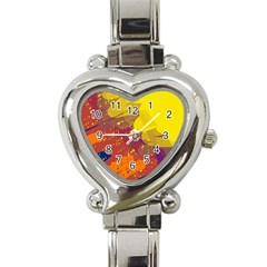 Colorful abstract pattern Heart Italian Charm Watch
