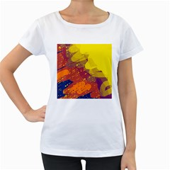 Colorful abstract pattern Women s Loose-Fit T-Shirt (White)