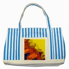 Colorful abstract pattern Striped Blue Tote Bag