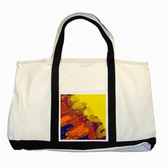 Colorful abstract pattern Two Tone Tote Bag