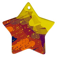 Colorful abstract pattern Star Ornament (Two Sides)