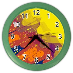 Colorful abstract pattern Color Wall Clocks