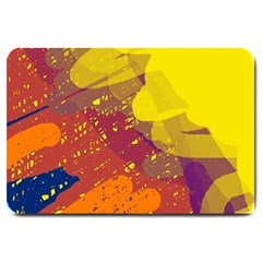 Colorful abstract pattern Large Doormat