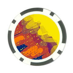 Colorful abstract pattern Poker Chip Card Guards