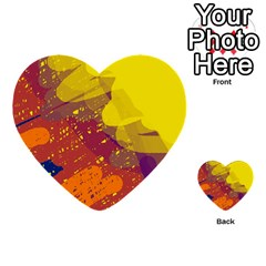 Colorful abstract pattern Multi-purpose Cards (Heart)