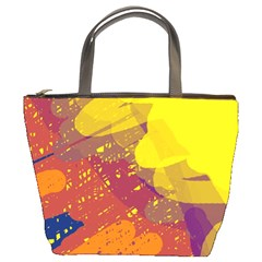 Colorful Abstract Pattern Bucket Bags