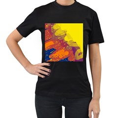 Colorful abstract pattern Women s T-Shirt (Black)