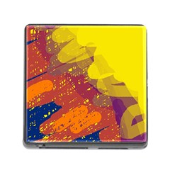 Colorful abstract pattern Memory Card Reader (Square)