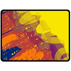 Colorful abstract pattern Fleece Blanket (Large)