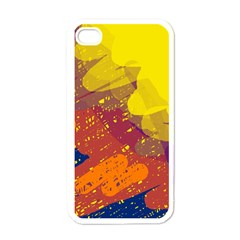 Colorful abstract pattern Apple iPhone 4 Case (White)