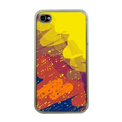 Colorful abstract pattern Apple iPhone 4 Case (Clear)