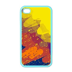 Colorful abstract pattern Apple iPhone 4 Case (Color)
