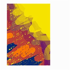 Colorful abstract pattern Large Garden Flag (Two Sides)